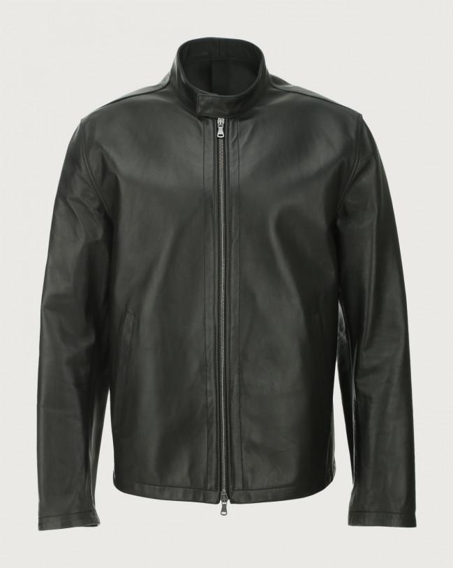Orciani Nappa Nature leather biker jacket Leather Black