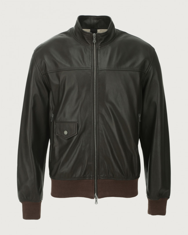 Orciani Nappa Nature leather jacket Leather Chocolate