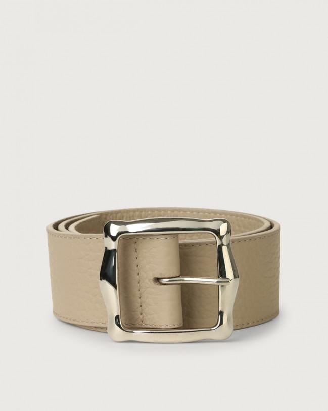 Orciani Soft high waist leather belt 5 cm Leather Sand