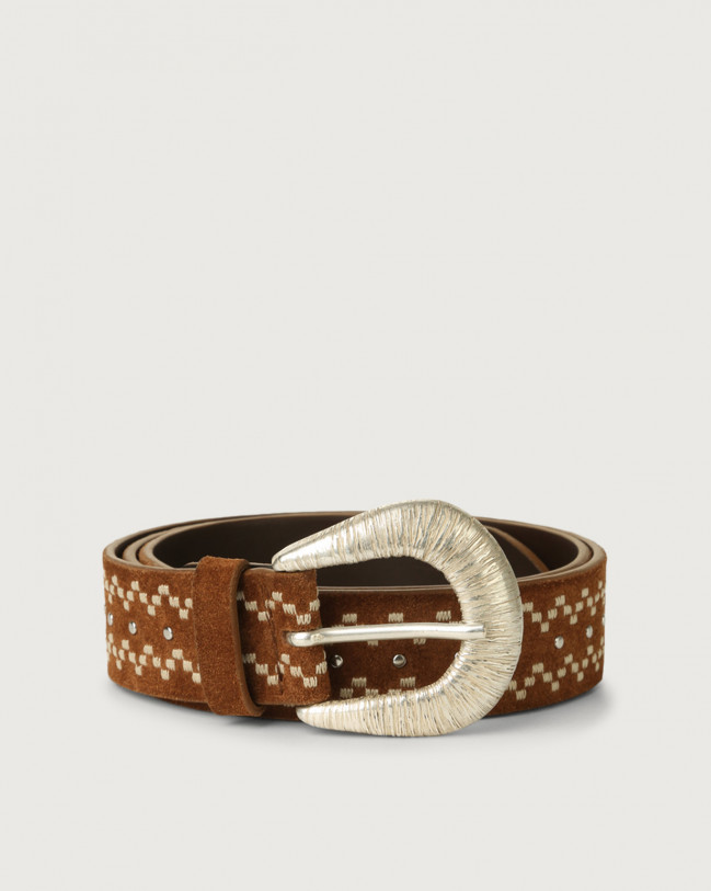 Orciani Savage suede leather belt Suede Brown