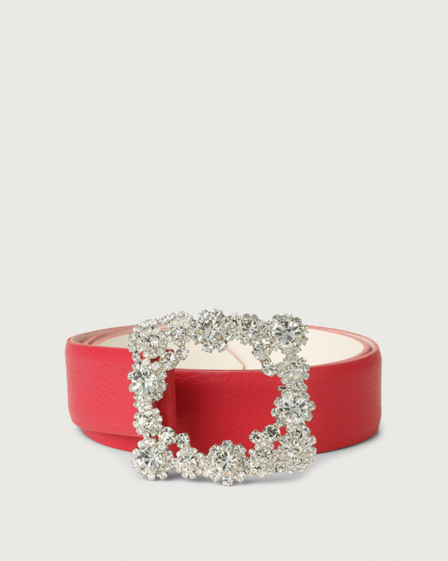 Orciani Micron jewel leather belt Fuchsia
