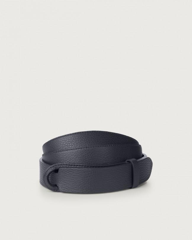 Orciani Micron leather Nobuckle belt Leather Navy