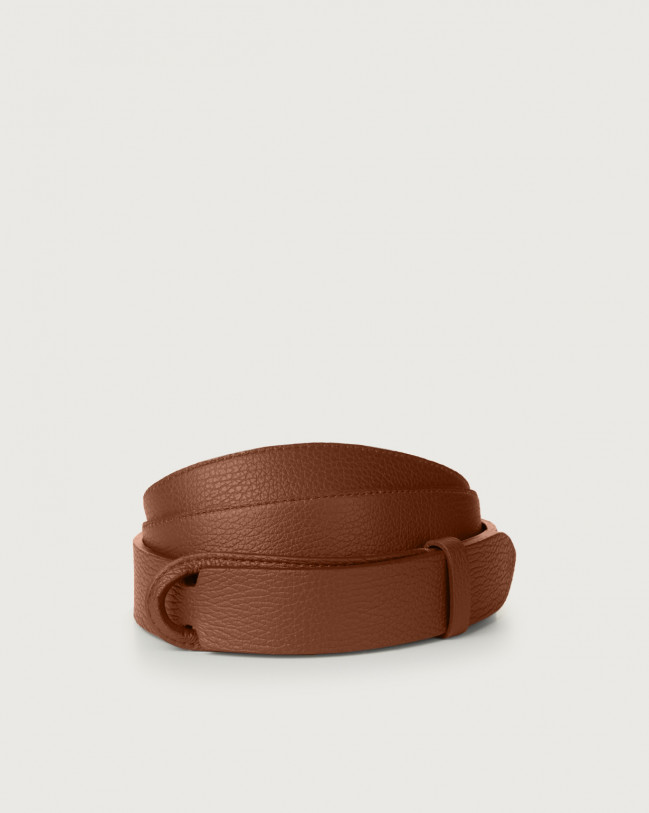 Orciani Micron leather Nobuckle belt Leather Burnt