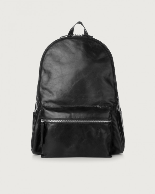 Orciani Artik leather backpack Leather Black