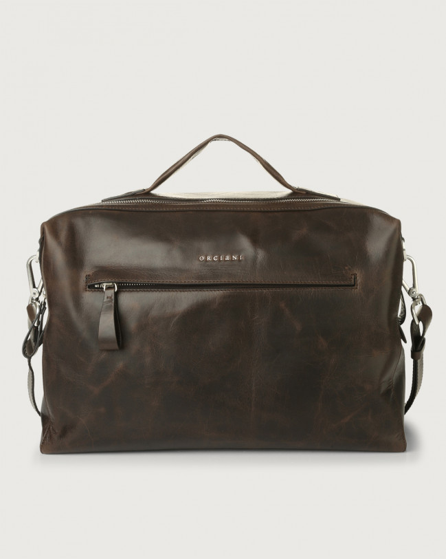 Orciani Bond Artik leather duffle bag Leather Chocolate