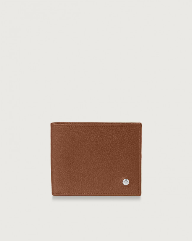 Orciani Micron leather wallet Leather Burnt