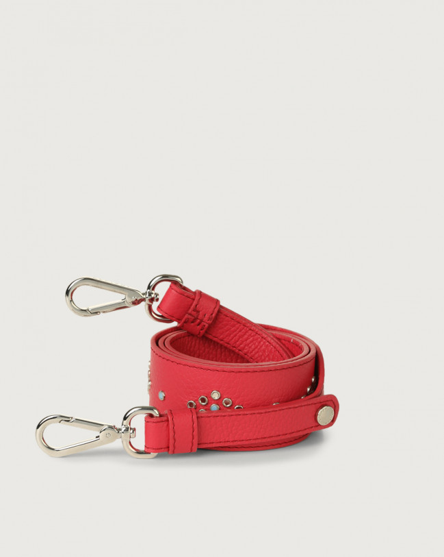 Orciani Micron leather strap with micro-studs Leather Fuchsia
