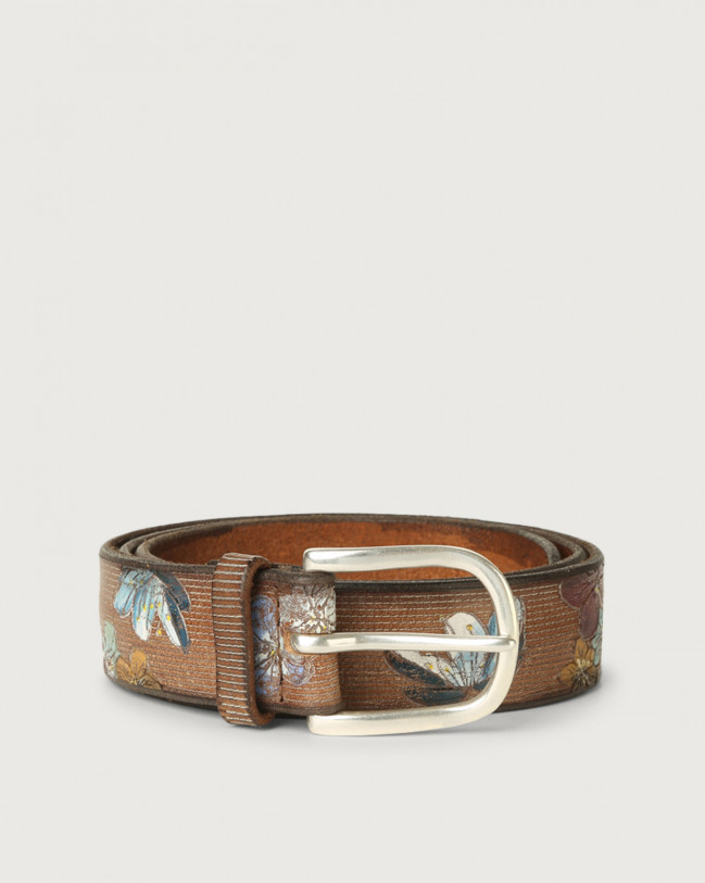 Orciani China leather belt Leather Cognac
