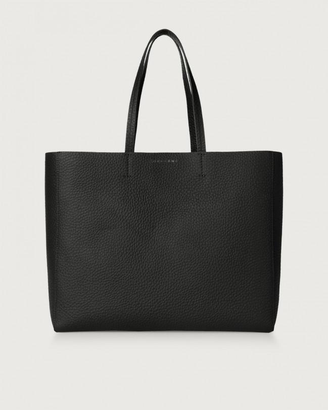 Orciani Le Sac Soft leather tote bag Leather Black