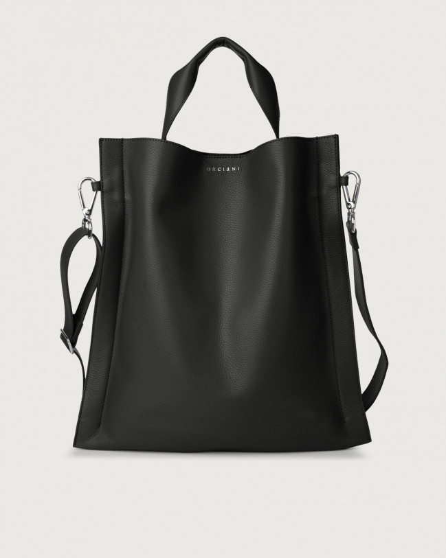 Orciani Iris Micron leather shoulder bag Leather Black