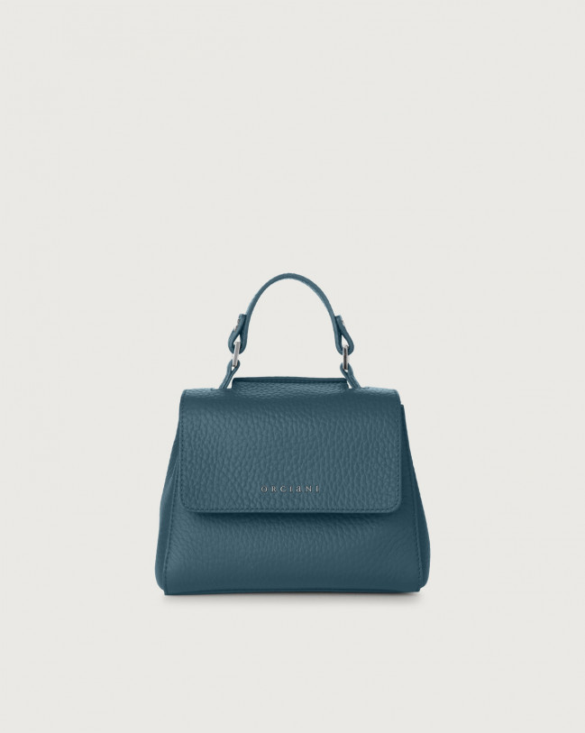 Orciani Sveva Soft mini leather handbag with strap Leather Blue