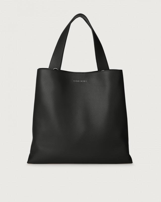 Orciani Jackie Micron leather shoulder bag Leather Black