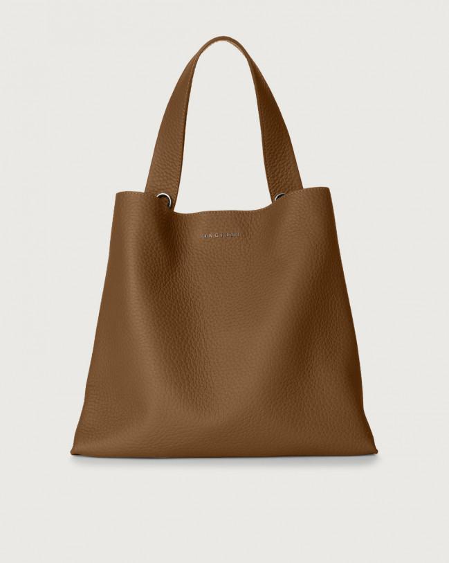 Orciani Jackie Soft leather shoulder bag Leather Caramel