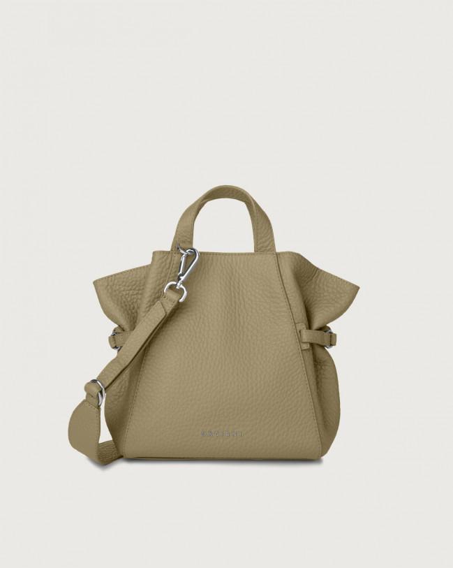 Orciani Fan Soft small leather handbag Leather Kaki