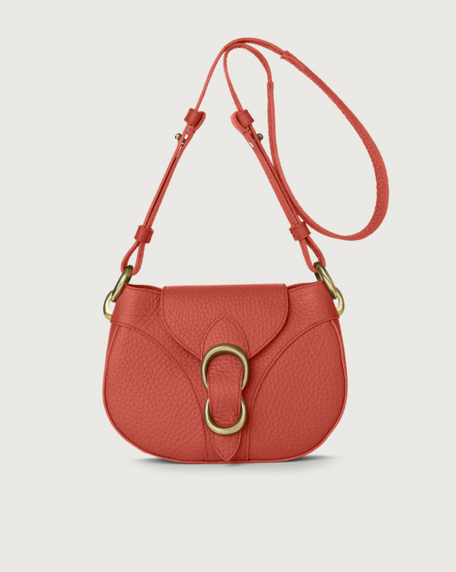 Orciani Beth Soft leather crossbody bag Leather Brick