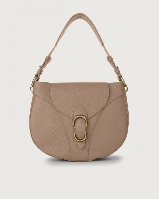 Orciani Beth Soft leather shoulder bag Leather Taupe