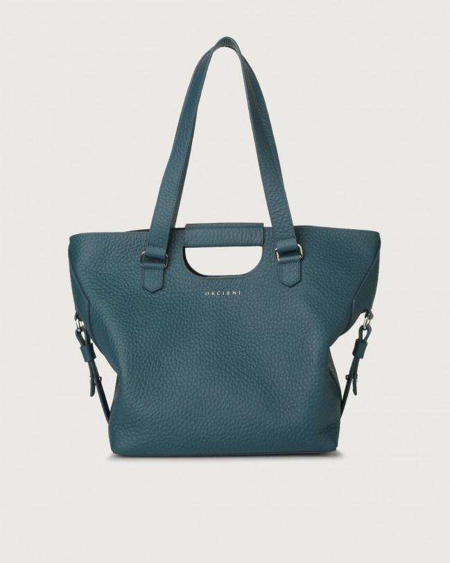 Orciani Isotta Soft leather shoulder bag Leather Blue