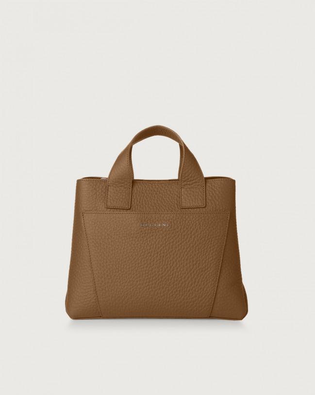 Orciani Nora Soft leather handbag Leather Caramel