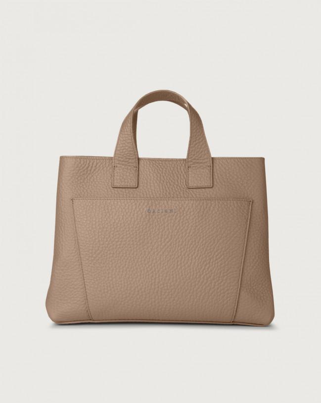 Orciani Nora Soft large leather handbag Taupe