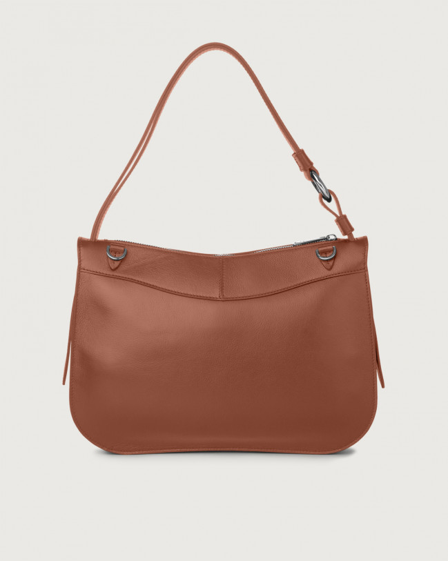 Orciani Ginger Liberty medium leather shoulder bag Leather Cognac