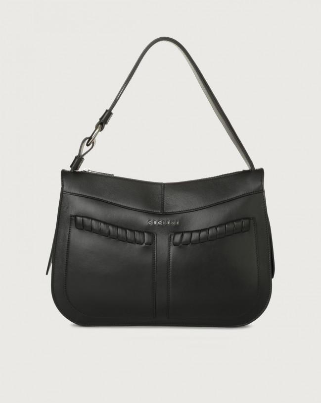 Orciani Ginger Liberty medium leather shoulder bag Leather Black