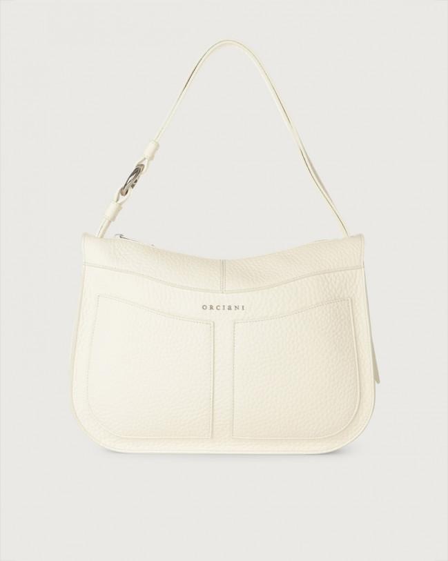 Orciani Ginger Soft medium leather shoulder bag Leather White