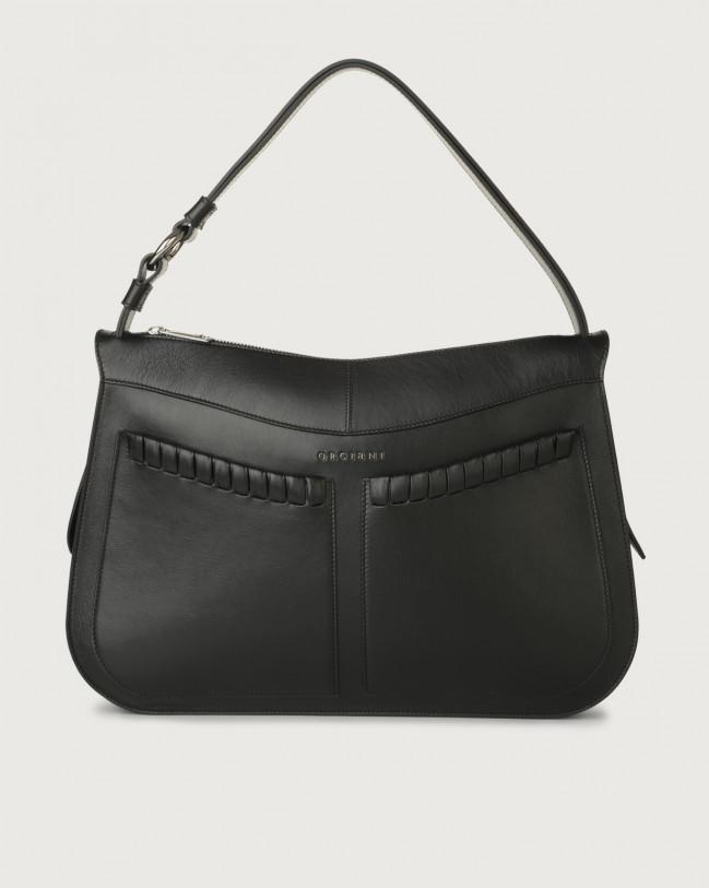 Orciani Ginger Liberty large leather shoulder bag Leather Black