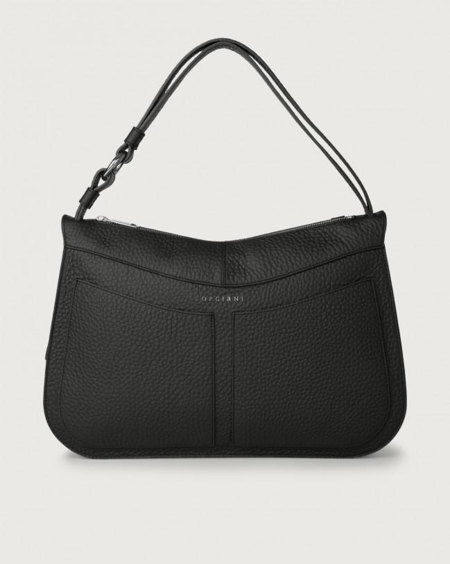 Orciani Ginger Soft large leather shoulder bag Leather Black