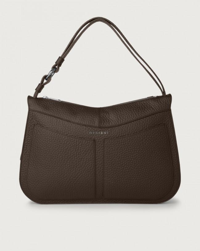 Orciani Ginger Soft large leather shoulder bag Leather Chocolate