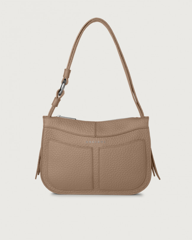 Orciani Ginger Soft small leather shoulder bag Leather Taupe