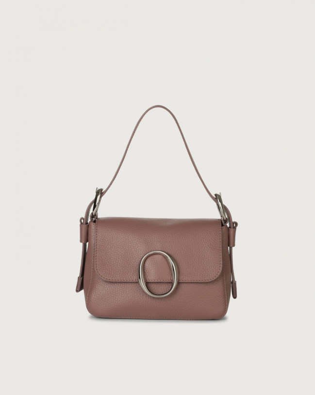 Orciani Soho Micron leather mini bag with strap Leather Mauve
