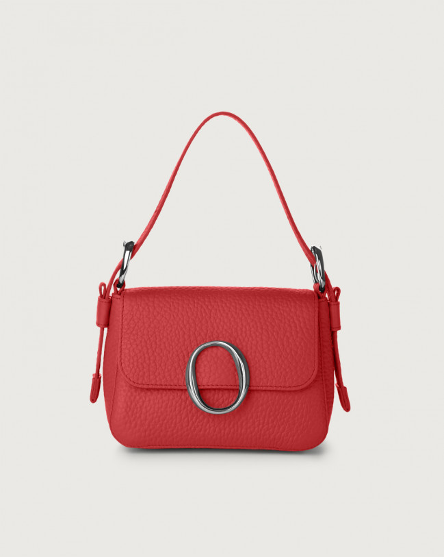 Orciani Soho Soft leather mini bag with strap Leather Marlboro red