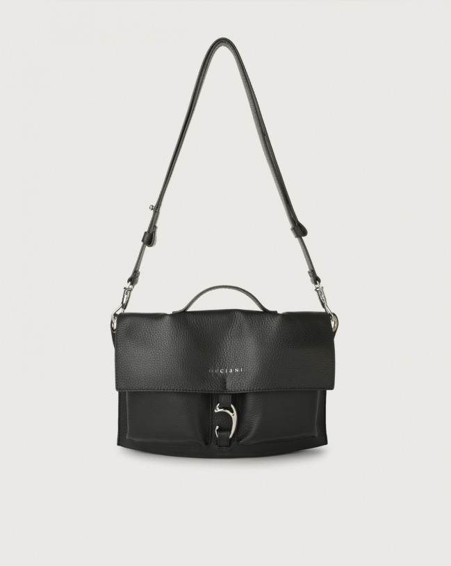 Orciani Scout Micron leather crossbody bag Leather Black