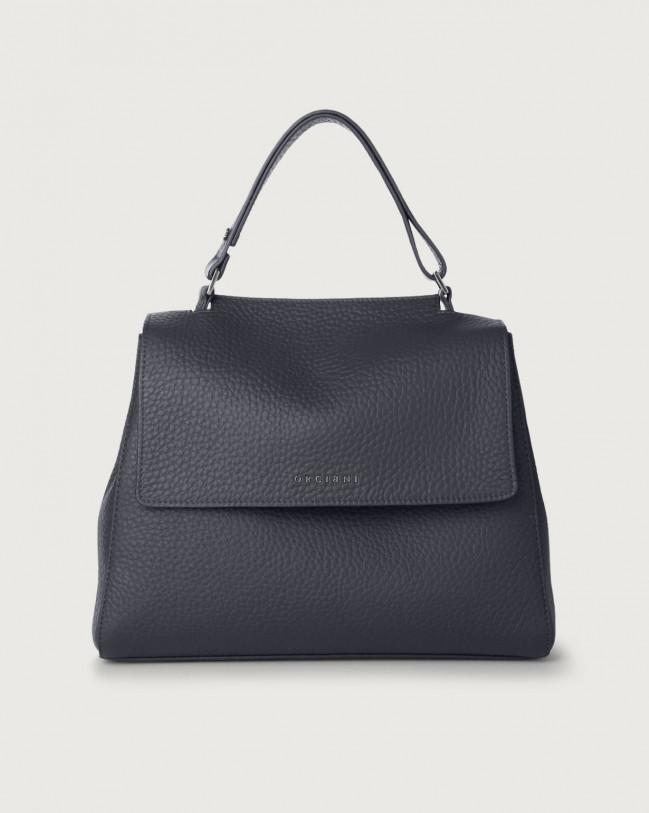 Orciani Sveva Soft medium leather shoulder bag with strap Leather Navy