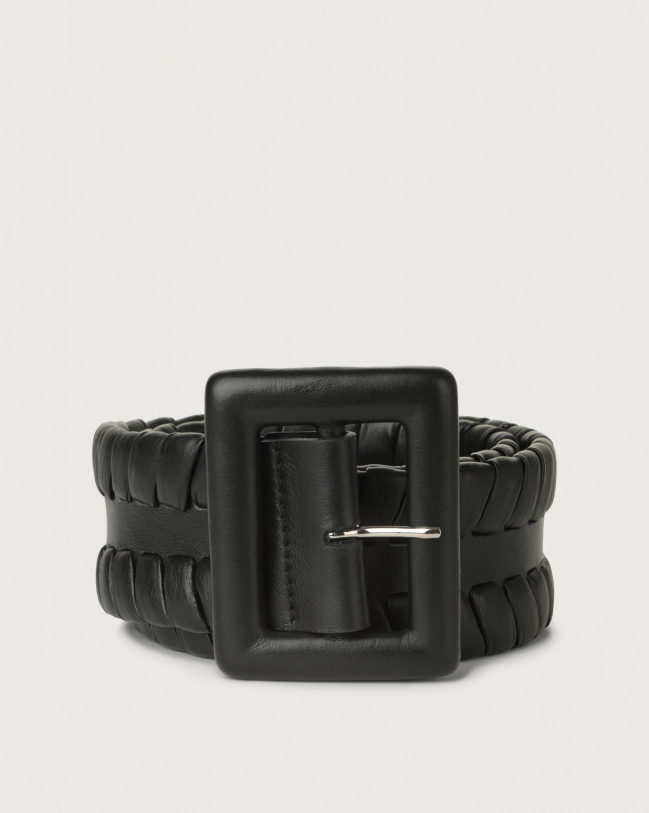 Orciani Liberty high-waist leather belt Leather Black
