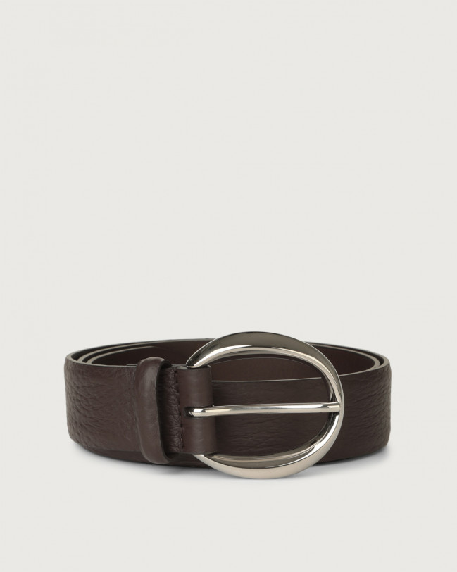 Orciani Soft leather belt Leather Chocolate