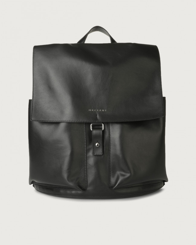 Orciani Liberty leather backpack Leather Black
