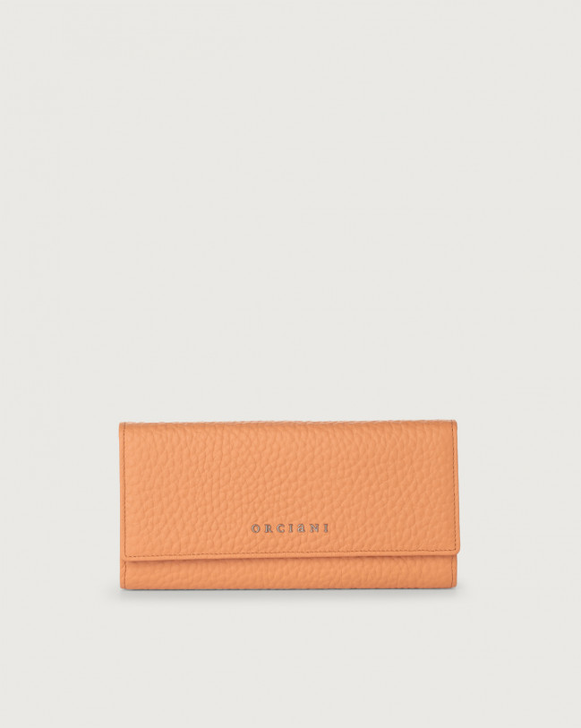 Orciani Soft leather envelope wallet with RFID Leather Fard