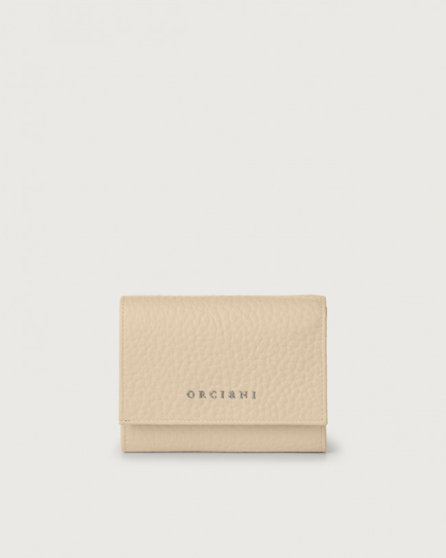 Orciani Soft small leather envelope wallet with RFID Leather Sand
