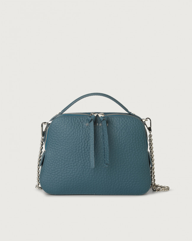 Orciani Soft leather mini bag Leather Blue