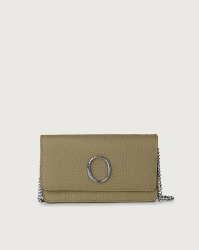 Orciani Soft leather pochette with RFID Leather Kaki