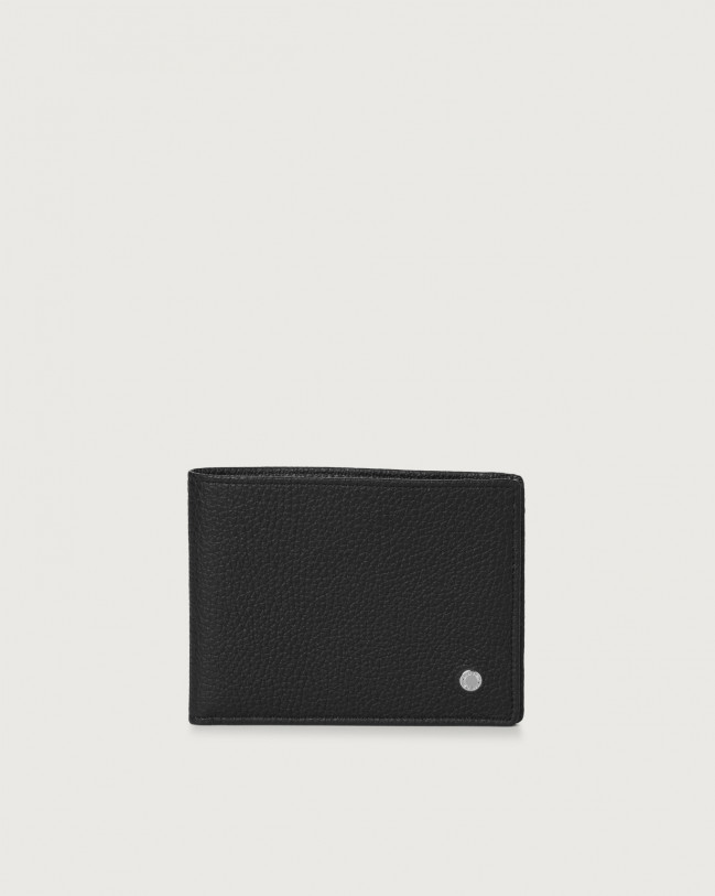 Orciani Micron leather wallet with RFID Black