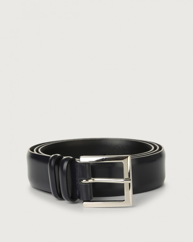 Orciani Calf classic leather belt Leather Deep blue