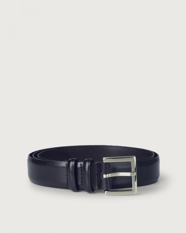 Orciani Toledo classic leather belt Leather Blue