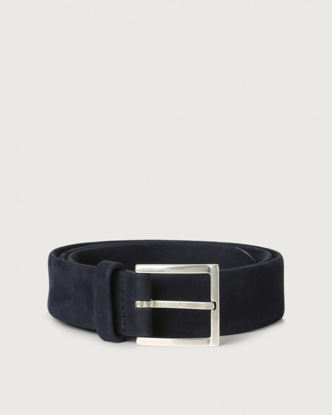 Orciani Long Beach nabuck leather belt Nabuck Deep blue
