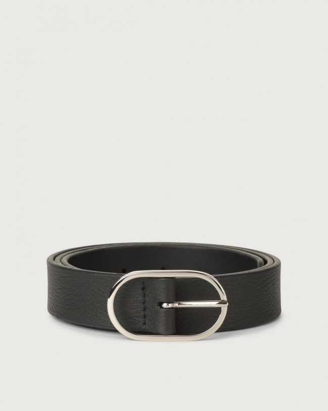 Orciani Dollaro leather belt Leather Black