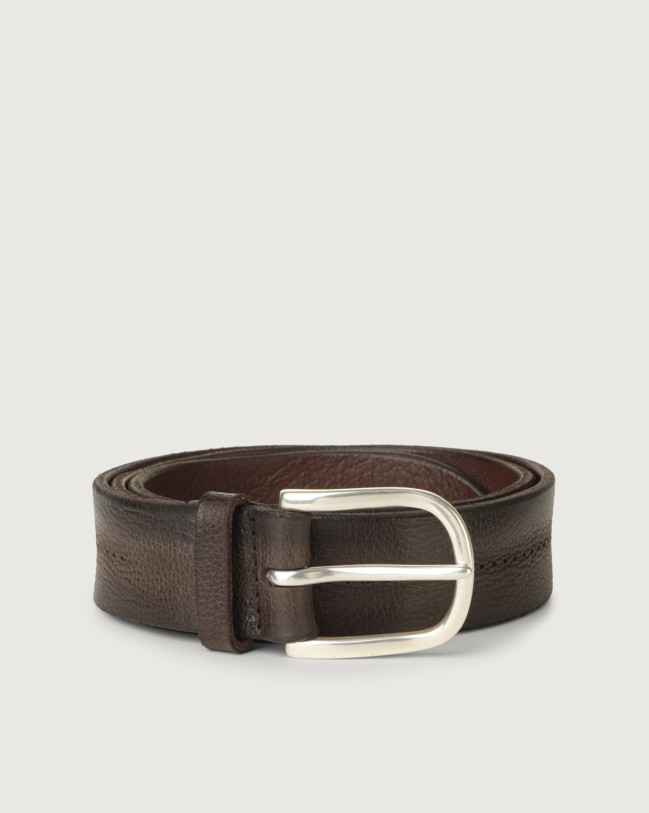 Orciani Chevrette nabuck leather belt 3,5 cm Nabuck Chocolate
