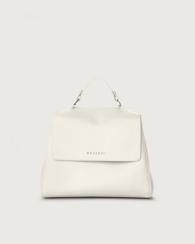 Orciani Sveva Micron small leather handbag with strap Leather Brown