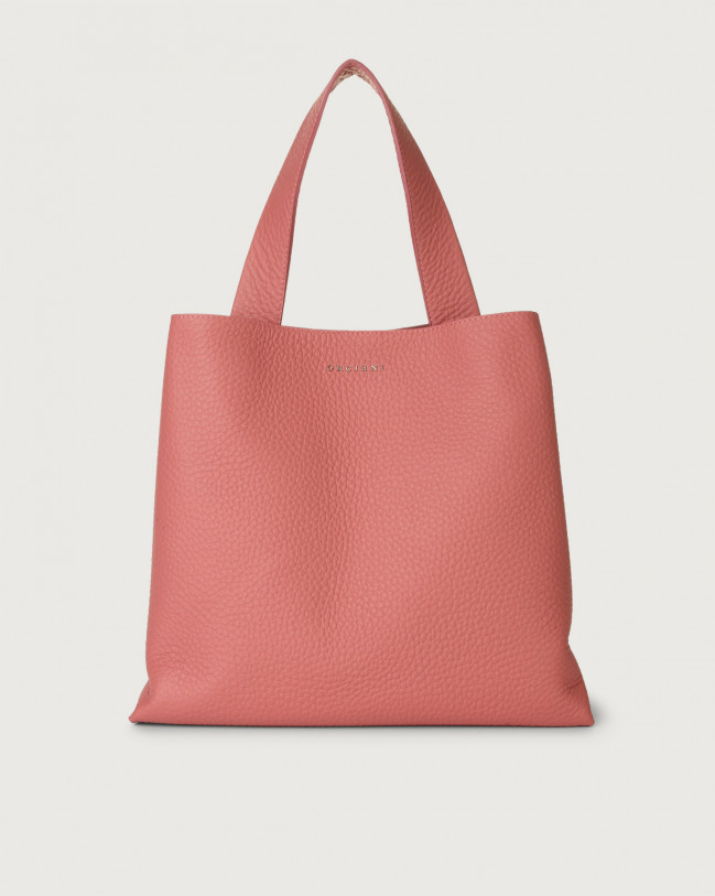 Orciani Jackie Soft leather shoulder bag Leather Bubble pink