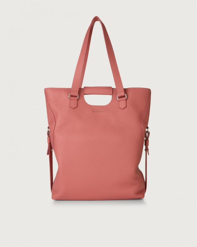 Orciani Isotta Soft large leather shoulder bag Leather Bubble pink